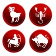 Royalty-Free Stock Photo: Red zodiac signs - set 2