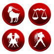 Royalty-Free Stock Photo: Red zodiac signs - set 3