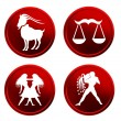 Red zodiac signs - set 3 — Stock Photo