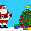 Santa Clause Christmas Tree — Foto de Stock