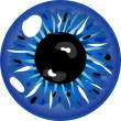Stock Photo: Illustration of blue pupil