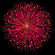 Illustration of a pink fireworks — Stock Photo