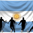 Soccer player Argentina — Stock Photo
