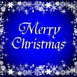 Blue merry christmas background — Stock Photo #1742411