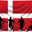 Soccer player Denmark — Foto Stock #1742537