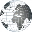 Stock Photo: Grey 3d globe