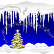 Blue winter background — Stockfoto
