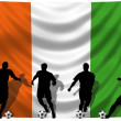 Stock Photo: Soccer player Ivory Coast