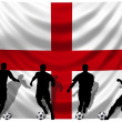 Soccer player England — Stock Photo