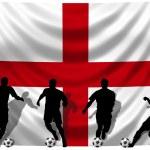 Soccer player England — Stock Photo