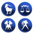 Royalty-Free Stock Photo: Blue zodiac signs - set 1