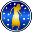 Zodiac sign virgo — Stockfoto