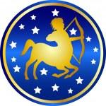 Zodiac sign sagittarius — Stock Photo