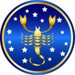 Zodiac sign scorpio — Stock Photo