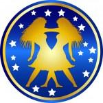 Zodiac sign gemini — Stock Photo