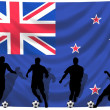 Soccer player New Zealand — Stock Photo #1743265