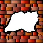 Damaged brick wall — Stock Photo #1743269