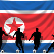 Soccer player North Korea — Stockfoto #1743299
