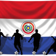 Soccer player Paraguay — Stock Photo