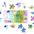 Euro Banknote Puzzle — Stock Photo