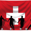 Soccer player Switzerland — Stock Photo