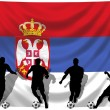 Soccer player Serbia — Stock Photo