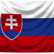 National Flag Slovakia — Stock Photo #1743602