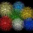 Foto Stock: Illustration of fireworks