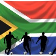 Soccer player South Africa — Stock Photo