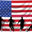Soccer player USA — Stock Photo #1743759