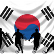 Soccer player South Korea — Stock Photo #1743770