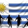 Soccer player Uruguay — Stock Photo