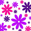 Stock Photo: Flower background pink purple