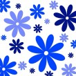 Flower background blue white — Stockfoto