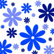 Flower background blue white - Photo