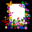 Flower frame - Stock Photo