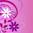 Stock Photo: Flower background purple pink
