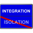 Business Motivation Sign Integration — Stock Photo