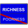 Business Motivation Sign Richness — Stock Photo