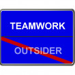 Business Motivation Sign Teamwork — Zdjęcie stockowe #1749969