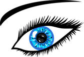 Blue Eye with lashes — Stock Photo
