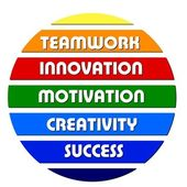 Lemas de motivación negocio colorido — Foto de Stock