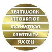 Golden Business motivation — Stock Photo