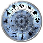 Blue Zodiac Disc with Signs and Symbols — Stock Photo