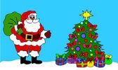Santa Clause Christmas Tree — Stock Photo
