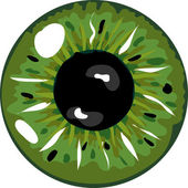 Illustration of a green pupil — Stock Photo
