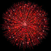 Illustration of a red fireworks — Stock Photo