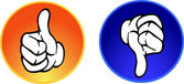 Thumbs up & down buttons — Stock Photo