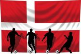 Soccer player Denmark — Stock Photo