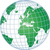 Green 3d globe — Stock Photo